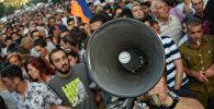 Акция протеста против подорожания электроэнергии в Ереване