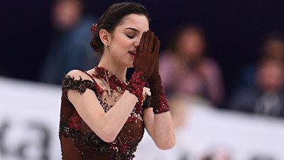 Фигурное катание. Чемпионат Европы. Женщины. Произвольная программа Евгении Медведевой
