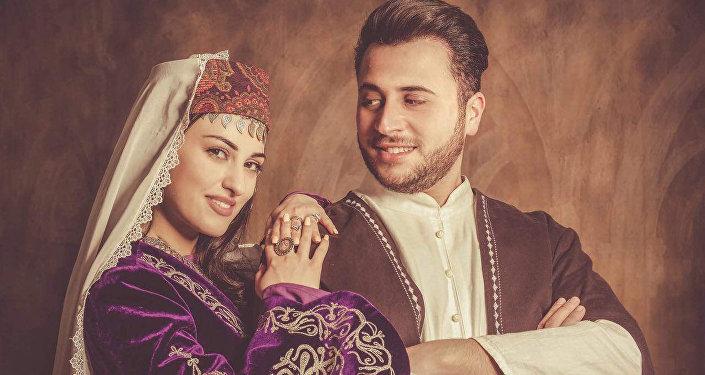 Дизайнер Гор Ароян с женой Ани Хачатрян