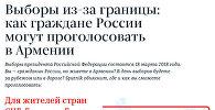 Выборы из заграницы: как граждане России могут проголосовать в Армении