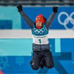 Олимпийская чемпионка гонки преследования среди женщин XXIII зимних Олимпийских игр, немка Лаура Дальмайер (12 февраля 2018). Пхенчхан, Южная Корея