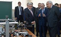 Президент Серж Саргсян посетил НПУА
