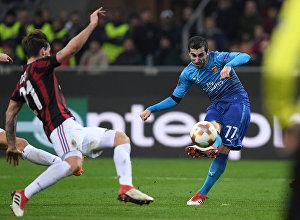 Матч 1/8 финала Лиги Европы Милан - Арсенал (8 марта 2018). Милан, Италия