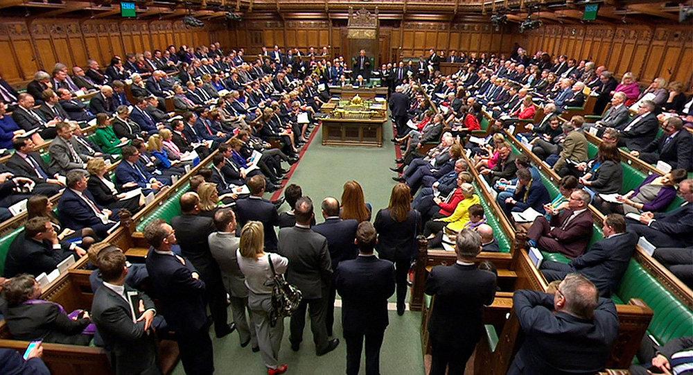 Слушание в парламенте Великобритании по делу Сергея Скрипаля (14 марта 2018). Лондон, Великобритания