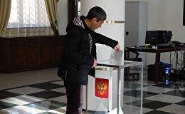 На расположенном в Гюмри участке проходят выборы президента России