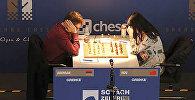Матч 4-го тура шахматного турнира в Баден-Бадене между Левоном Ароняном и Хоу Ифань