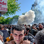 Беспорядки на проспекте Баграмяна (16 апреля 2018). Ереван