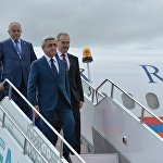 Прилёт в Уфу Президента Республики Армения Сержа Саргсяна