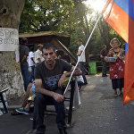 Вставай Армения плакат на дереве