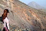 Армянская альпинистка на горе Арарат
