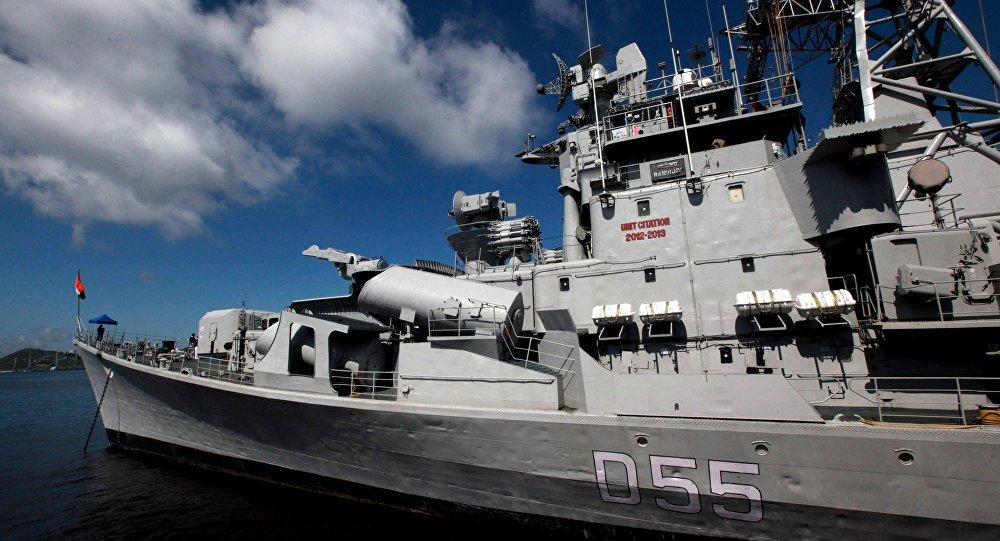 Встреча отряда кораблей ВМС Индии во Владивостоке
