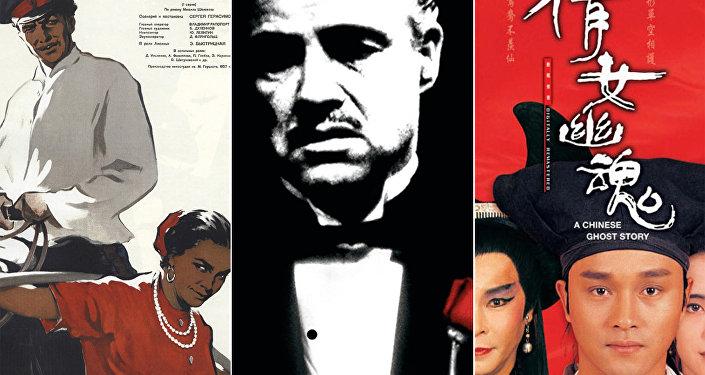 Колаж из постеров любимых фильмов Артавазда Пелешяна