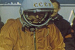 Спутник_Юрий Гагарин – человек, первым побывавший в космосе. Кадры из архива