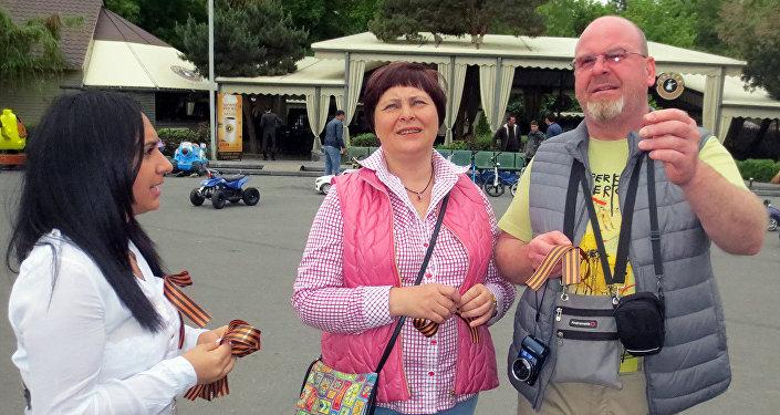 В Армении проводят акцию «Георгиевская ленточка!»