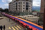 100-метровый армянский трикололор в Арцахе, Нагорный Карабах