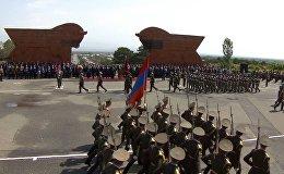 Торжественные мероприятия по случаю Дня Первой республики прошли в мемориальном комплексе Сардарапат