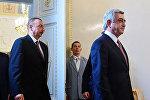 Встреча Сержа Саргсяна и Ильхама Алиева. Архивное фото
