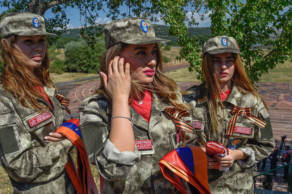 """Военно-спортивный сбор """"Наследники Победы"""" в Армении"""