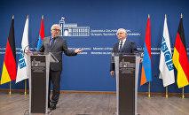 Пресс-конференция МИД Армении Эдварда Налбандяна и председатель ОБСЕ Франка-Вальтера Штайнмайера