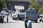 Ситуация близ места захвата вооруженной группой здания полиции в Ереване. Архивное фото