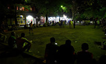 Митинг на территории захваченного здания полка ППС