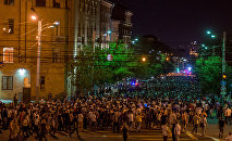Шествие участников акции протеста в Ереване