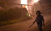 Разгон демонстрантов в Сари тахе