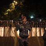 Полиция на проспекте Баграмяна