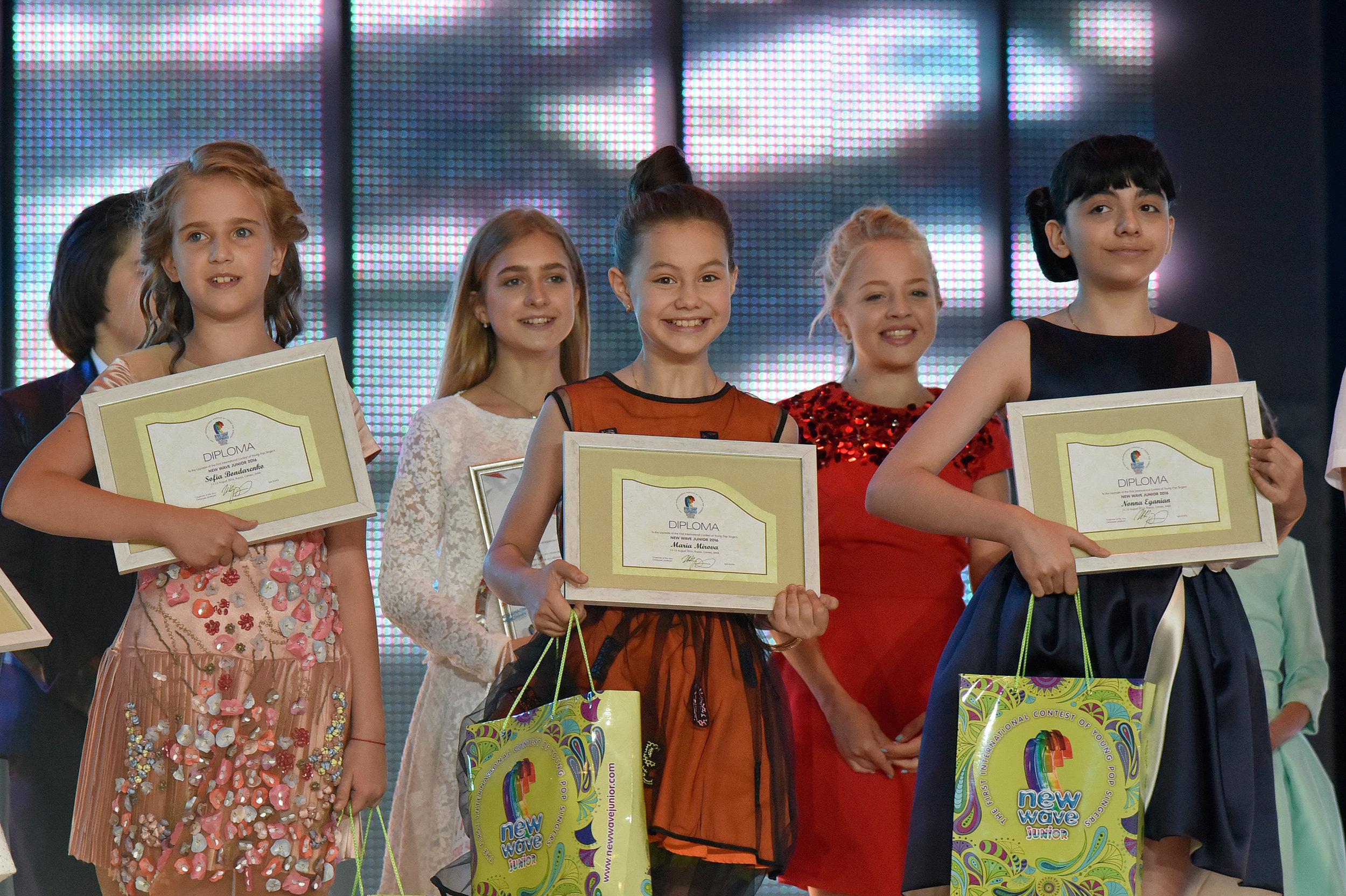 Лауреаты международного песенного конкурса Детская Новая волна - 2016