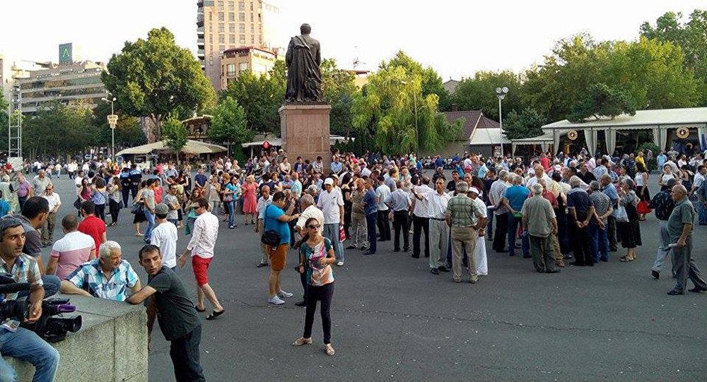 митинг на площади Свободы в Ереване