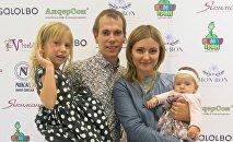 Сергей Миронов с семьей