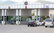 Армяно-грузинская граница. КПП Баграташен-Садахло . Архивное фото