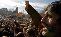 Митинг оппозиции в Армении. Архивное фото