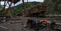 Заброшенный рудник по добыче меди города Ахтала