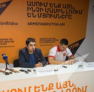 Пресс-конференция представителей баскетбольного клуба Урарту