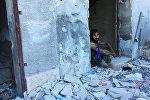Освобоженный лагерь палестинских беженцев Хандарат на северо-востоке Алеппо