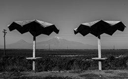 Следы СССР в Армении. Старая остановка