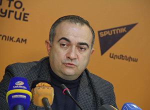Пресс-конференция депутата НС Тевана Погосяна в пресс-центре Sputnik Армения