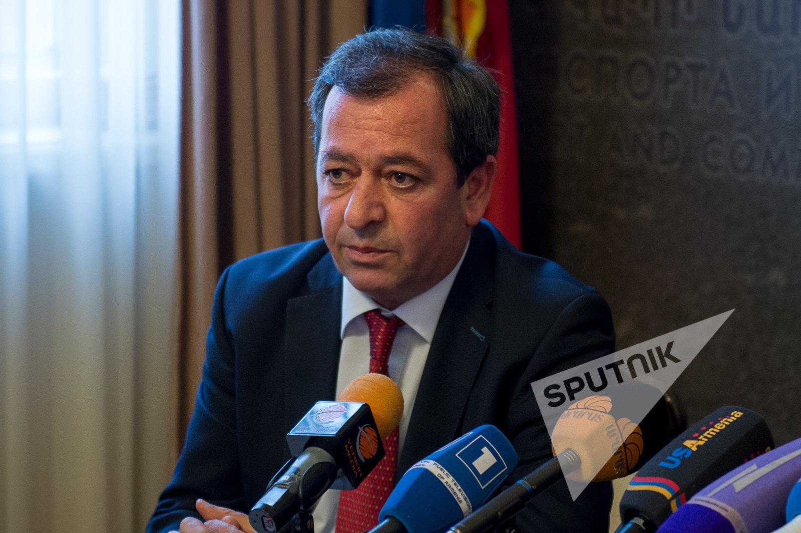 Арам Арсенян. Пресс-конференция в Министерстве транспорта и связи