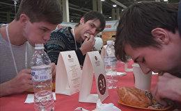 В Ростове-на-Дону прошел чемпионат по скоростному поеданию пирогов