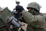 Зенитная артиллерийская установка ПВО РФ на учениях