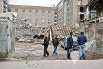 Снесенное здание первой типографии в Ереване
