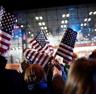 Флаг США. Выборы президента