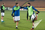 Предматчевая тренировка Сборной Армении по футболу. Маркос Пизелли и Геворг Казарян