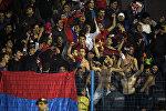 Футбольный матч Армения - Черногория. Армянские болельщики. Архивное фото