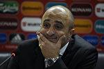 Пресс-конференция тренера сборной Армении Артура Петросяна после матча Армения - Черногория