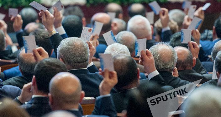 XVI съезд РПА. Голосвоание партийцев