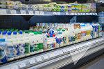 Молочные продукты в магазине