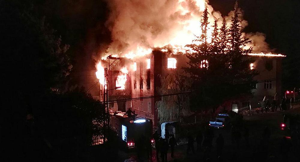Пожар в детском интернате в Турции