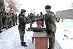 Новобранцам ЮВО в Армении в начале зимнего периода обучения вручили освященное оружие и военную технику